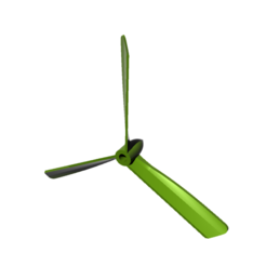 Download free 3D printer templates propeller 3 blades - propeller 3 blades, nielerwan