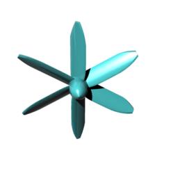Download free 3D printer files helice 6 blades - propeller 6 blades, nielerwan