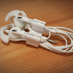 earphoneholder_white.jpg Download free STL file Earphone Clip • 3D printing model, compute4you