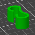 Free 3D printer designs Cable Clip, compute4you