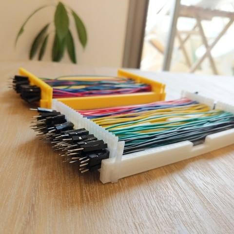 Télécharger fichier impression 3D gratuit Organisateur de câbles Dupont personnalisable, urish