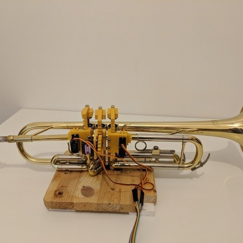 Download free 3D printer model Trumpet-Playing Robot Finger Mechanism, urish