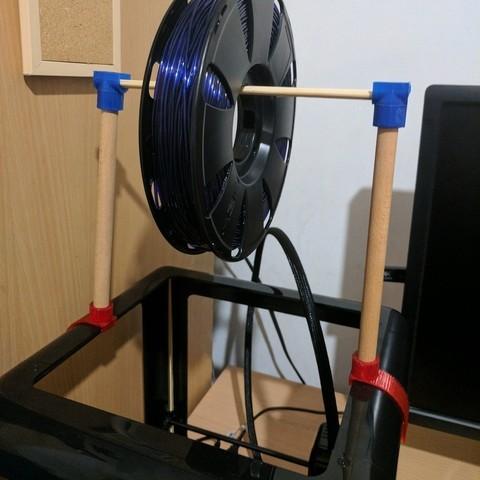 Télécharger fichier imprimante 3D gratuit Porte-bobines M3D Pro (personnalisable), urish