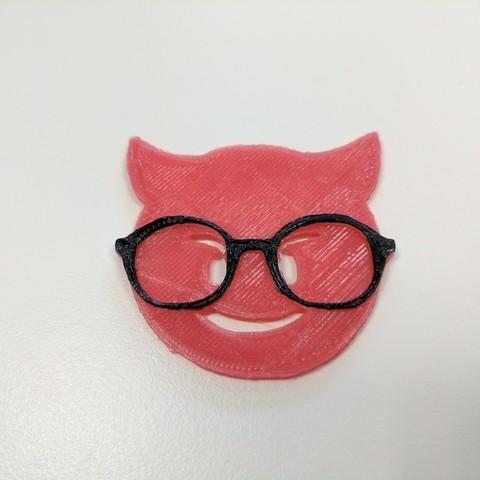 Free 3D print files Devil Emoji with Glasses, urish
