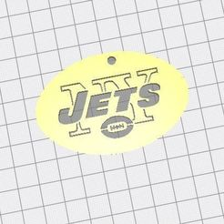 Free 3D model logo key jets nfl, jerem170787
