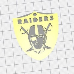 Free 3D printer files logo key raiders nfl, jerem170787