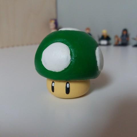 Free STL super mario mushroom, LowSeb
