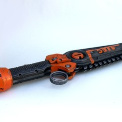 Download 3D printer designs cyberpunk Chain knife, LowSeb