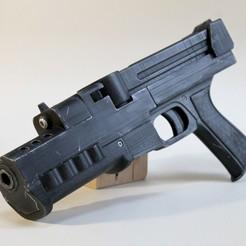 Download 3D printer templates gunnm alita battle angel pistol (manga fan art), LowSeb