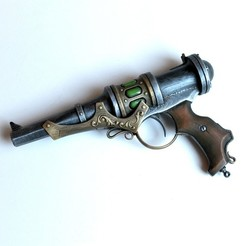 steampunk-energy-gun-2.jpg Télécharger fichier OBJ pistolet à énergie steampunk • Design pour imprimante 3D, LowSeb