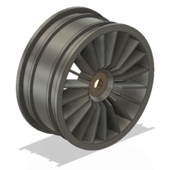 Free 3D printer designs A-Tech BX-1 Alternative Front Wheel, Balsaboy95