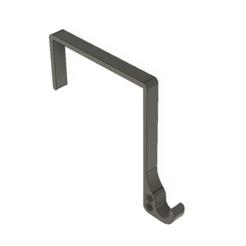 Free 3D printer files Simple door hanger hook, Balsaboy95