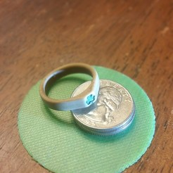 Download free 3D printing templates Shamrock Ring, WW3D