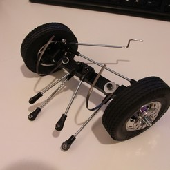 Download free 3D printing designs Printed truck V1: Front axle, MrCrankyface