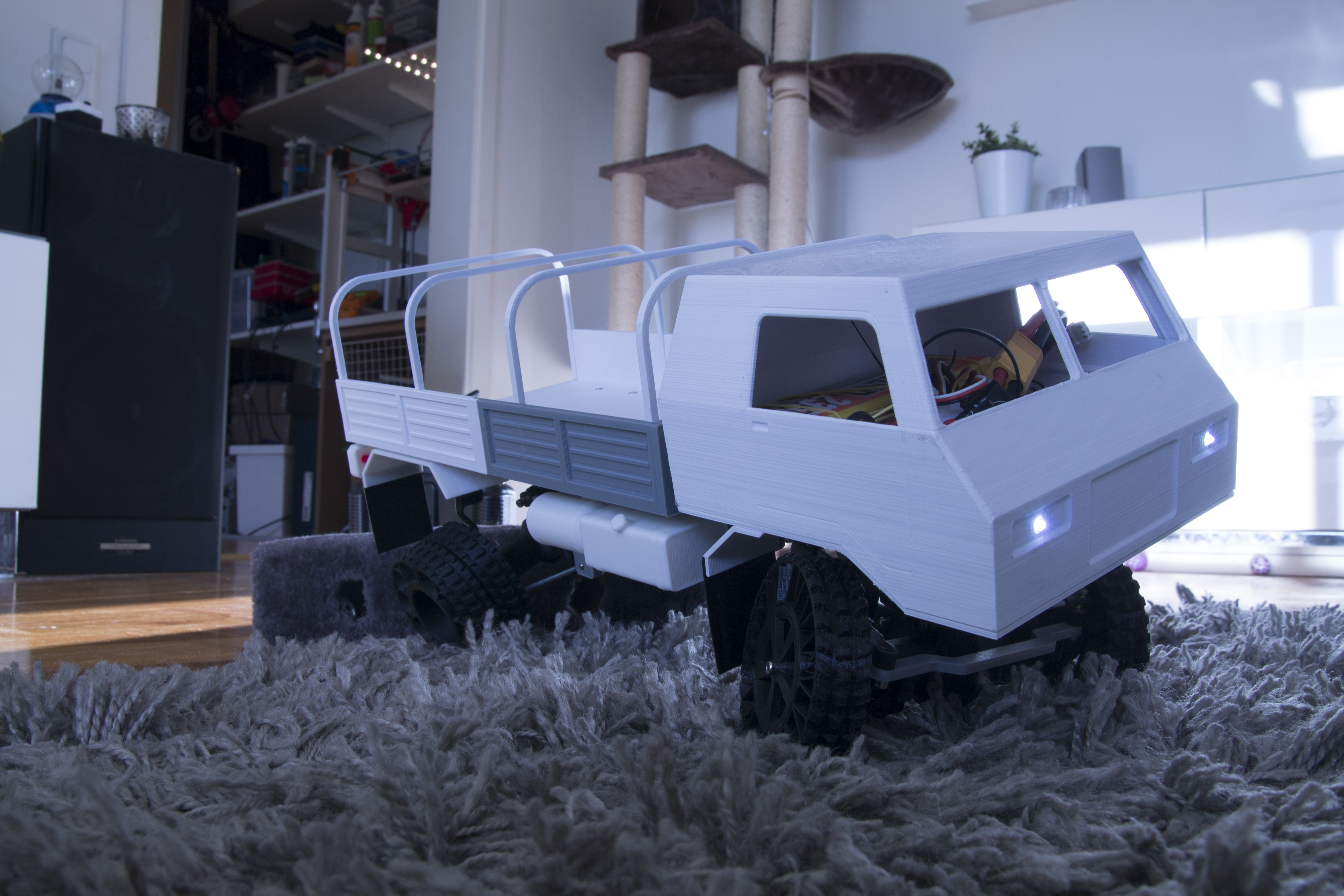 36__8_.JPG Download STL file 3D Printed RC Truck V3 • 3D print model, MrCrankyface