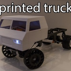 Download free 3D printer templates Printed truck V2: Cab, MrCrankyface
