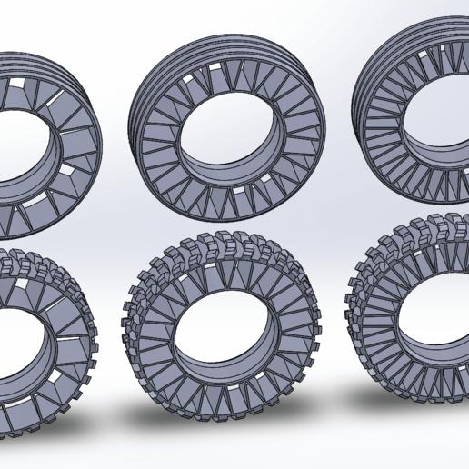 Download free 3D printer files Printed truck: Tyres, MrCrankyface