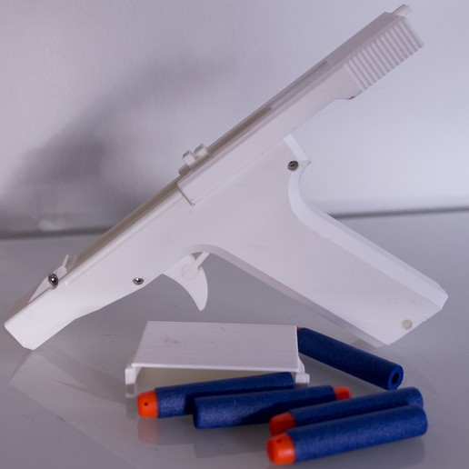 3.JPG Download STL file Nerf pistol with clip • 3D printer design, MrCrankyface