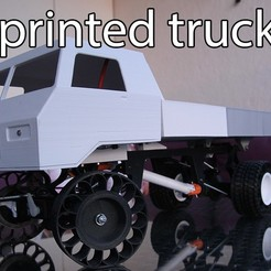 Download free STL Printed truck V2: Liftable bed, MrCrankyface