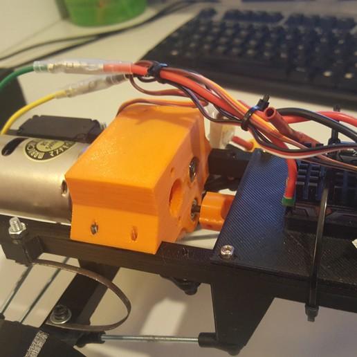 20160305_150644.jpg Télécharger fichier STL gratuit Camion Imprimé : Boîte de vitesses Rapport de démultiplication 18:1 à engrenages hélicoïdaux • Plan pour imprimante 3D, MrCrankyface