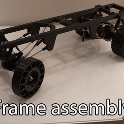 Download free 3D printer model Printed truck V2: Frame, MrCrankyface