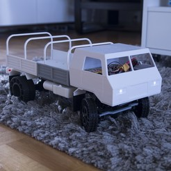 Download STL file 3D Printed RC Truck V3 • 3D print model, MrCrankyface