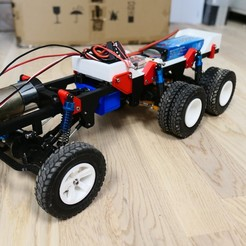 Download 3D printer designs 3D Printed Rc Truck V4, MrCrankyface