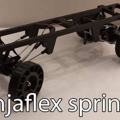 Download free 3D printing files Printed truck V2: Ninjaflex springs, MrCrankyface