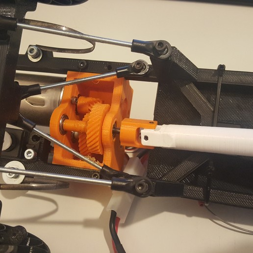 20160305_150653.jpg Télécharger fichier STL gratuit Camion Imprimé : Boîte de vitesses Rapport de démultiplication 18:1 à engrenages hélicoïdaux • Plan pour imprimante 3D, MrCrankyface