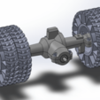 Download free 3D printing designs Printed truck V2: Rear axle, MrCrankyface