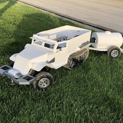 Download STL file 3D Printed RC Truck / Half-track, MrCrankyface