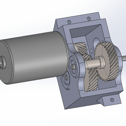kkMFAXA.png Télécharger fichier STL gratuit Camion Imprimé : Boîte de vitesses Rapport de démultiplication 18:1 à engrenages hélicoïdaux • Plan pour imprimante 3D, MrCrankyface