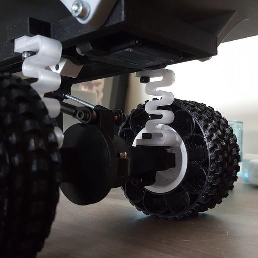 Download free 3D print files Printed truck V2: PLA springs, MrCrankyface