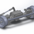 Download free 3D model Printed truck V2: Front axle, MrCrankyface