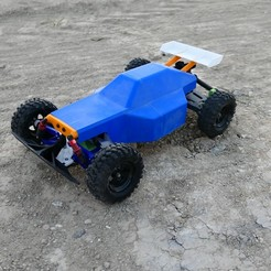 Download 3D printing models 3D Printed RC Buggy: Version 2 (RWD), MrCrankyface