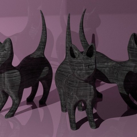 Imprimir en 3D gratis Gatito juguetón, DataDink