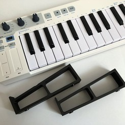 Arturia Keystep Stand 1.jpg Download STL file Arturia Keystep MIDI Keyboard Stand • 3D printer template, balky