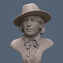 Download free 3D printing designs Oscar Wilde Bust, artspam