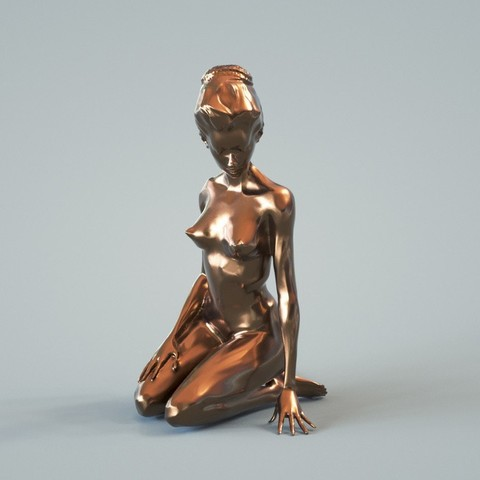Free 3D printer designs Stylized Nude (Sitting), diijaii