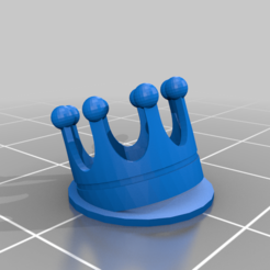 Download free 3D printer files Tilted crown test object, artspam