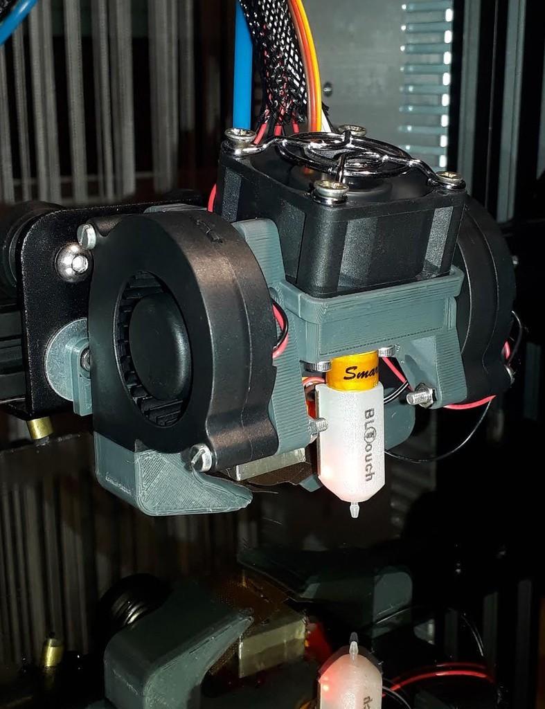 1dbad7524707795f7d0e54982c877f84_display_large.jpg Télécharger fichier STL gratuit CReality (E2/3/4, CR10) double ventilateur de refroidissement 5015 pièces avec support BLTouch • Objet pour imprimante 3D, artspam