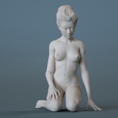 Free 3D model Another Nude (Sitting), diijaii
