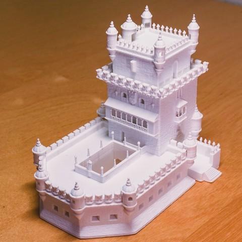 Download free STL file Torre De Belem • 3D printing model, artspam