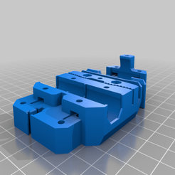 x_carriage_mk3_Bear_0.6.0.png Download free STL file Bear Extruder X Carriage for Anet A8, AM8 46.4mm rods • 3D printing design, Aaron_F