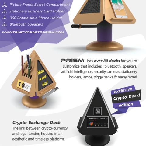 PRISM Salesheet.png Download free STL file Prism - Smart Desk Assistant • 3D print model, TrinityCraftsInc