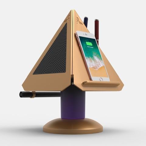 PRISM Hero.jpg Download free STL file Prism - Smart Desk Assistant • 3D print model, TrinityCraftsInc