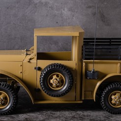 DSC_5943.jpg Download STL file RC CAR Dodge Power Wagon M37 • 3D printing model, TamimiTeam