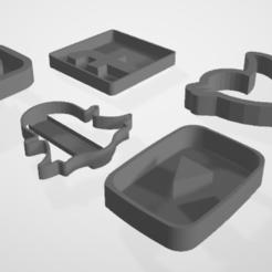 Descargar archivos STL gratis Cortadores de galletas para medios sociales, 3DCobra