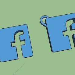 together.jpg Download STL file Facebook Logo / Name Initial Necklace • 3D printer template, 3DCobra