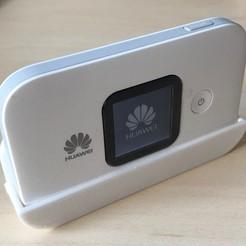 Imprimir en 3D gratis Soporte de pared para dispositivo WiFi móvil Huawei, biohazard